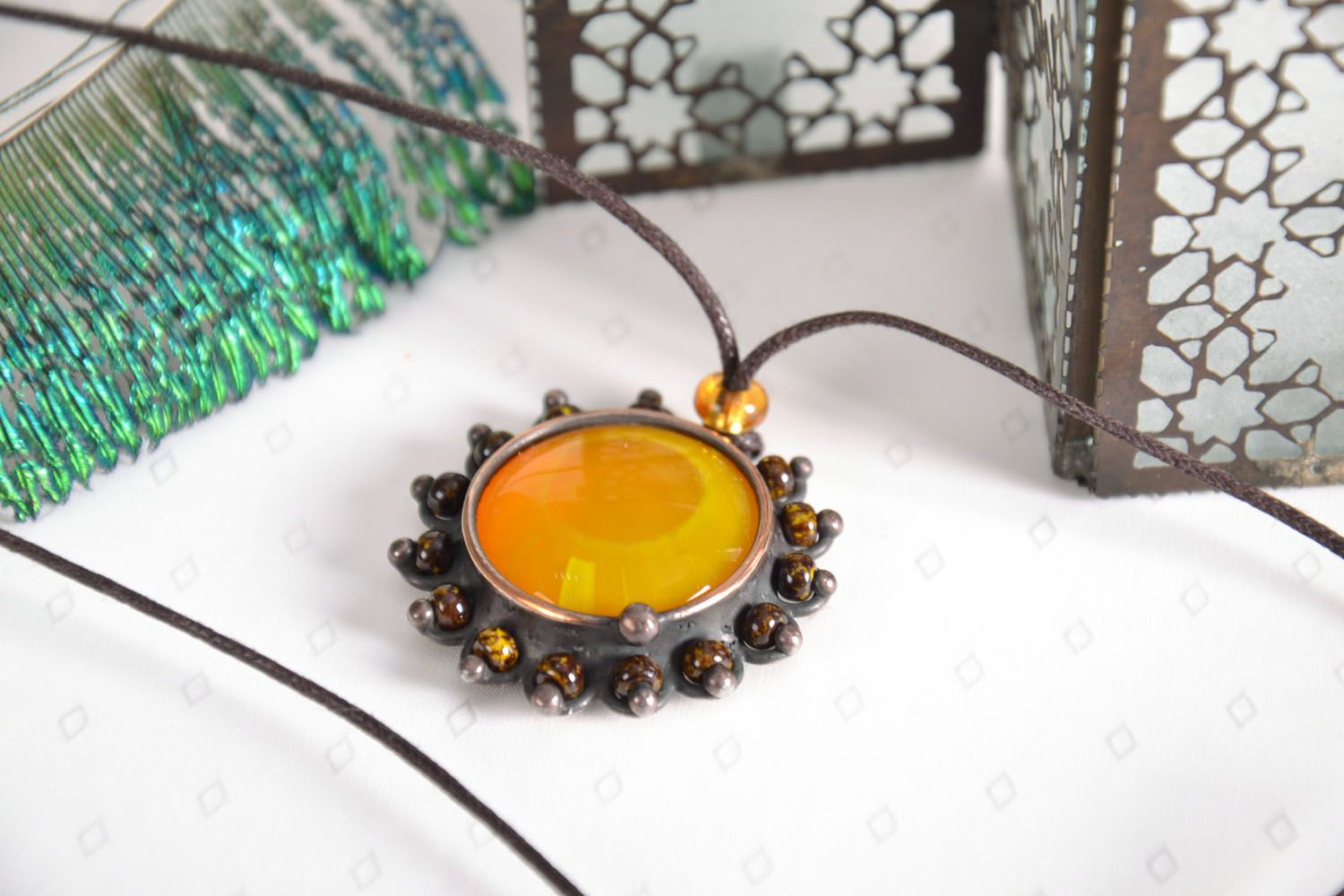Stained glass pendant photo 1