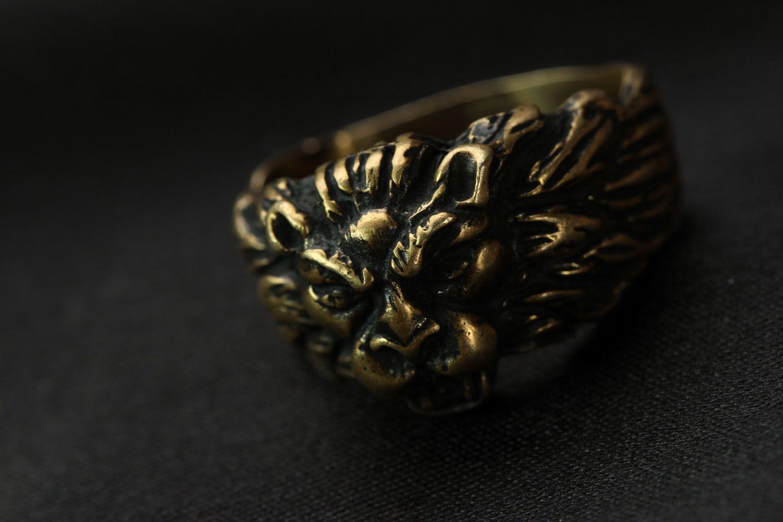 Löwenkopf Ring foto 4
