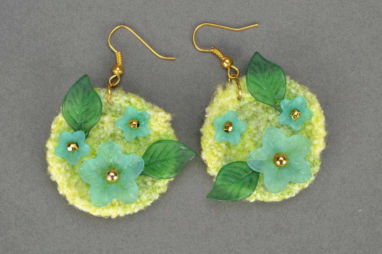 Crochet earrings Tenderness photo 3
