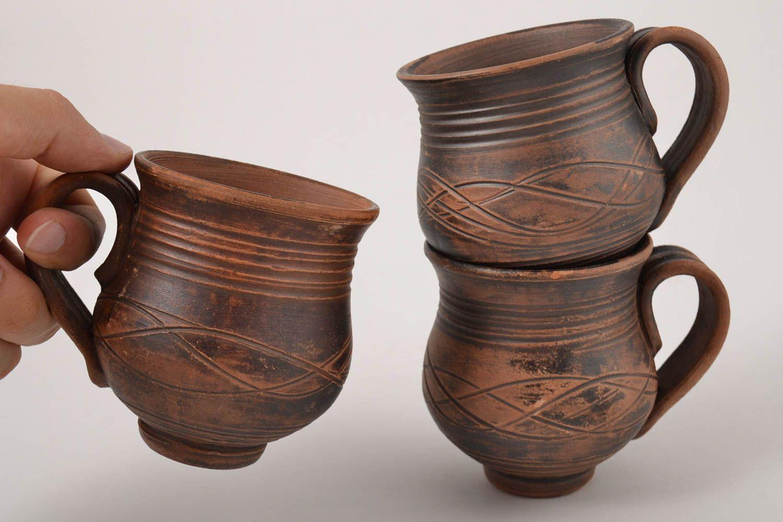 Madeheart tazas artesanales juego de tazas de t hecho a for Utensilios de cocina artesanales
