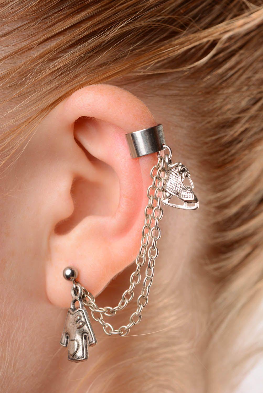 Metal cuff earrings Winter photo 3