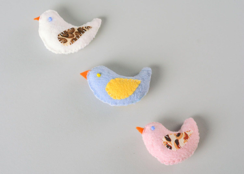 Set of fabric toys Birdies photo 3