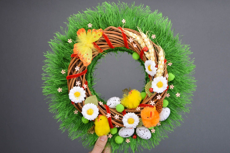 Handmade beautiful decorative door wreath Easter festive beautiful interior ideas photo 3