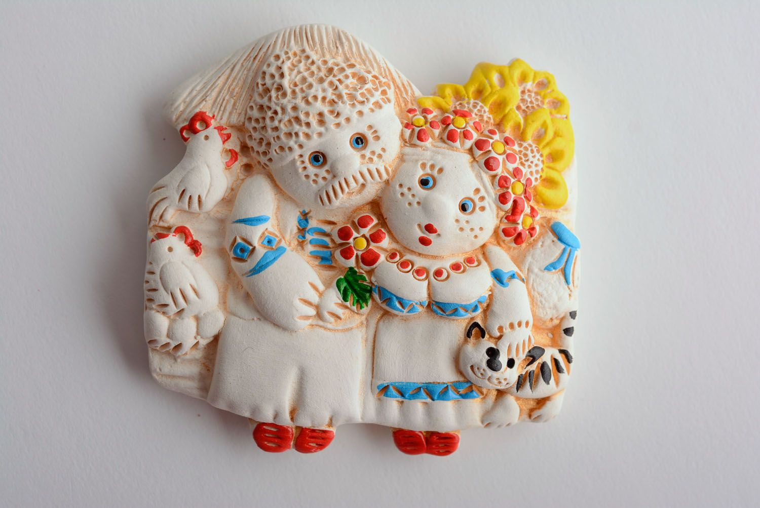 Clay fridge magnet Family Happiness photo 1