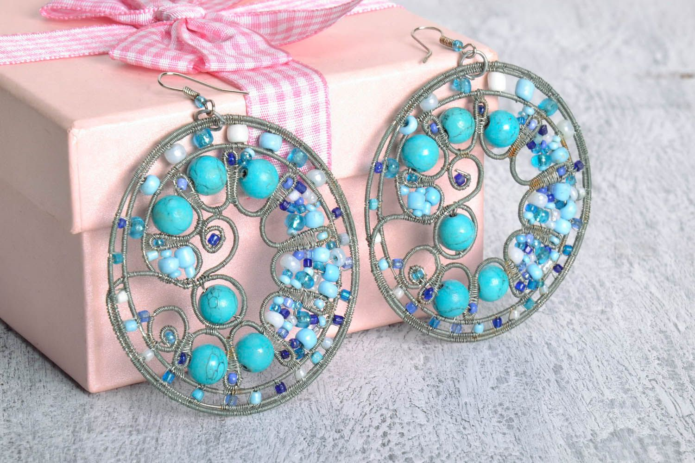 Round earrings photo 1