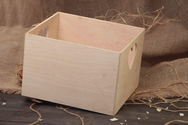 Madeheart pieza para manualidades hecha a mano caja de - Manualidades pintar caja metal ...