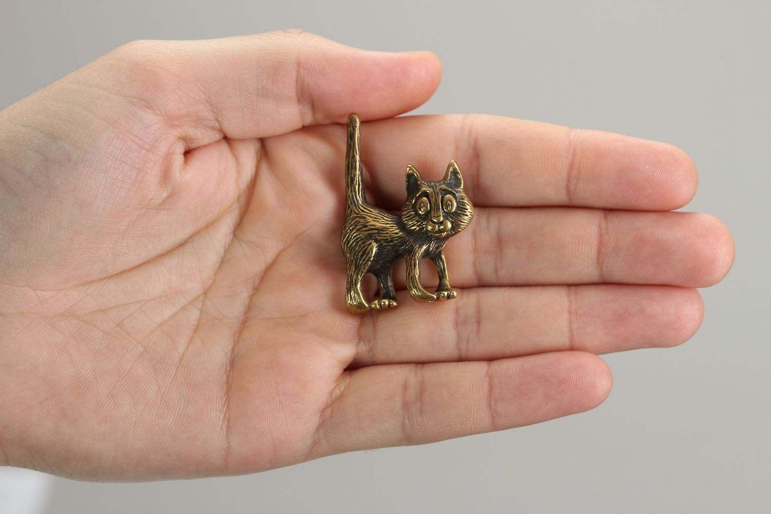 Bronze pendant in the form of a cat photo 5