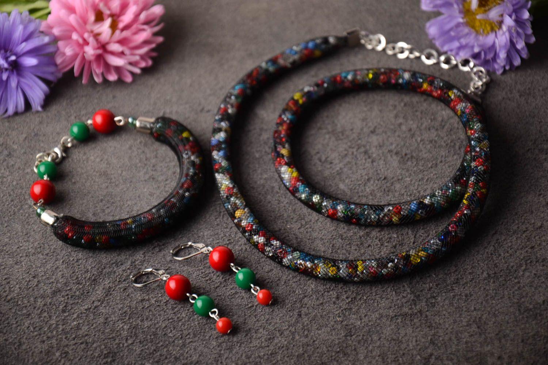 Beautiful handmade jewelry set beaded necklace bracelet designs earrings  ideas