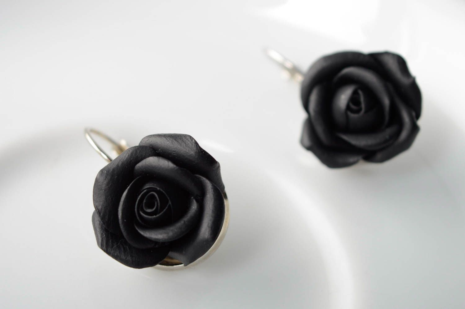 Polymer clay earrings Roses photo 1