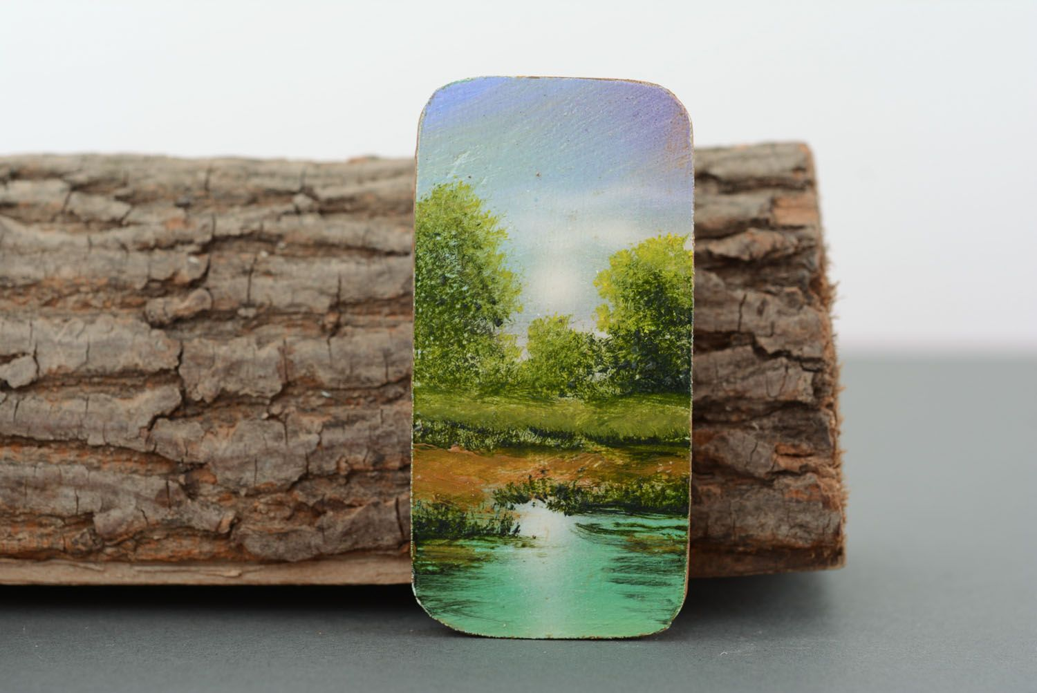Fridge magnet with painting Noon photo 1