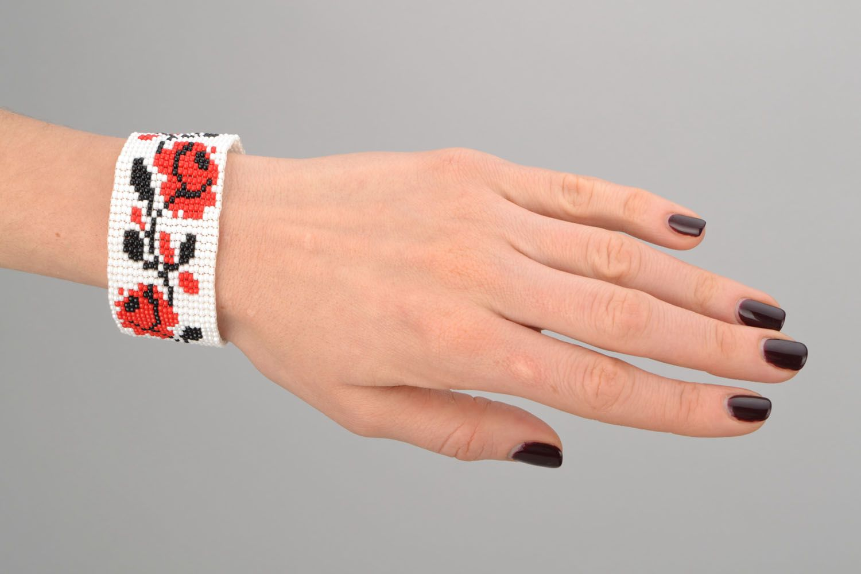 Buntes Armband aus Glasperlen foto 2