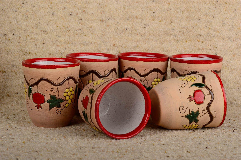Ensemble de verres fait main Verres à eau Vaisselle design belle originale photo 2