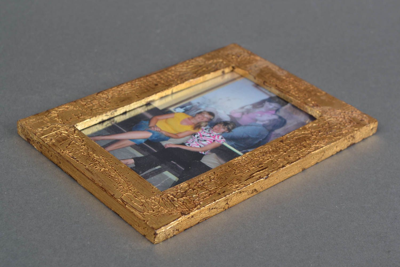 Handmade golden photo frame photo 3