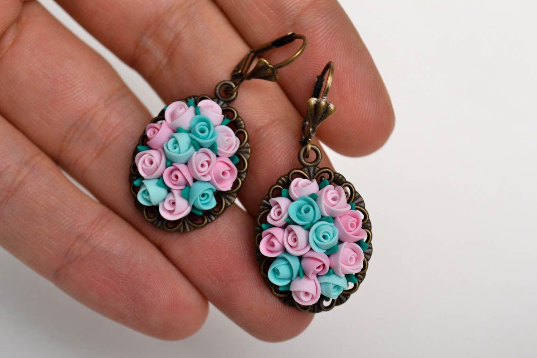 polymer clay earrings Handmade elegant designer earrings unusual elite jewelry stylish earrings - MADEheart.com