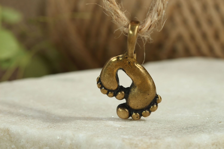 Handmade bronze pendant photo 4