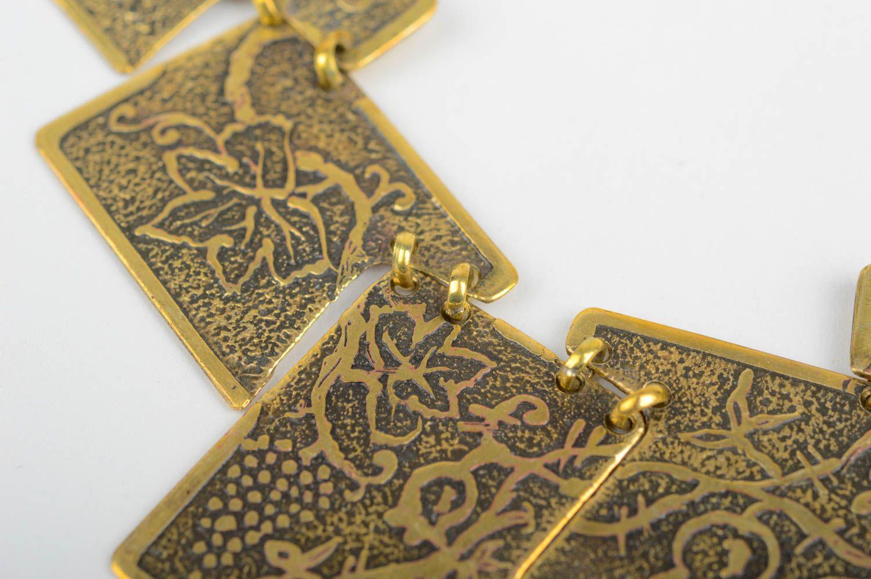 Handmade unusual jewelry metal designer accessories stylish beautiful necklace photo 4