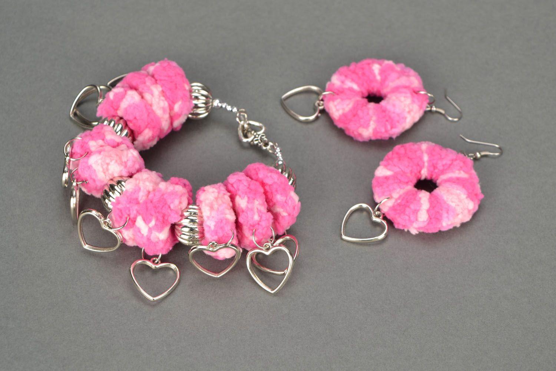 Crochet jewelry set photo 1