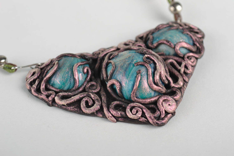 Handgemachte Collier Halskette Schmuck aus polymer clay  Schmuck für Frauen foto 3