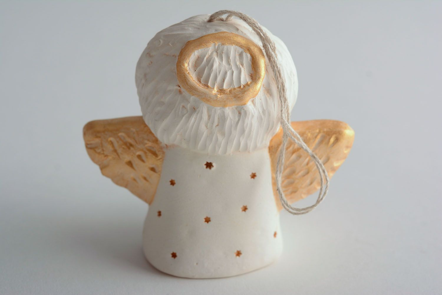 Homemade ceramic bell Angel photo 3