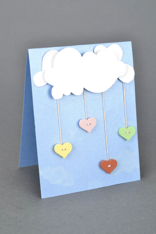 Открытка объемные облака, открытки