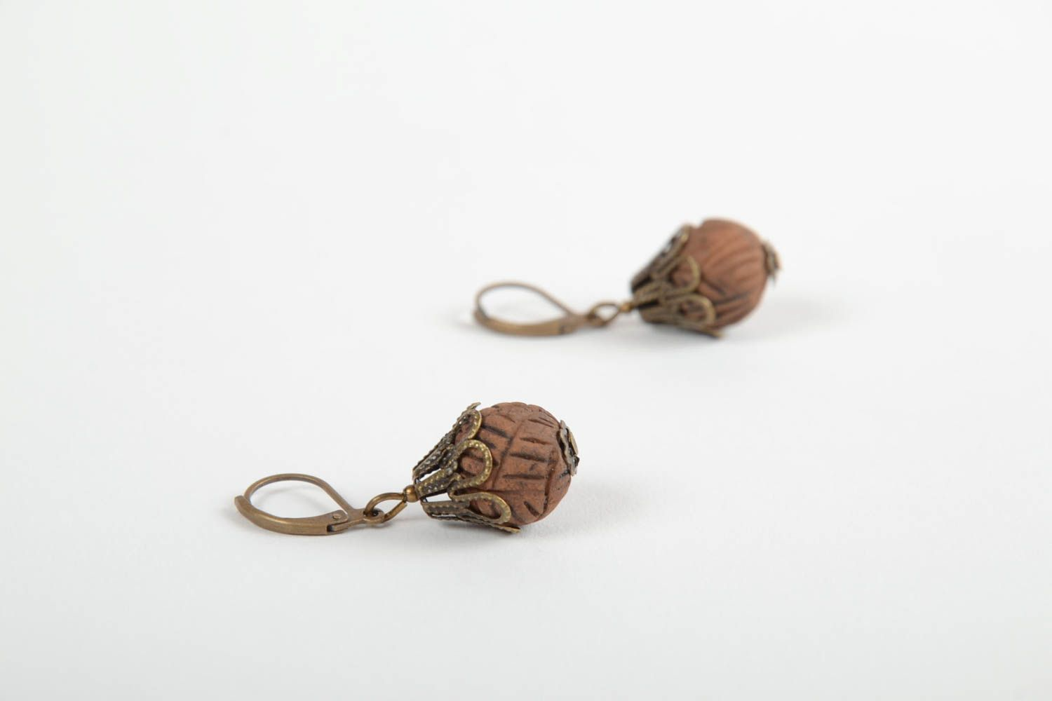 Stylish handmade clay earrings ceramic earrings for women designer accessories photo 4