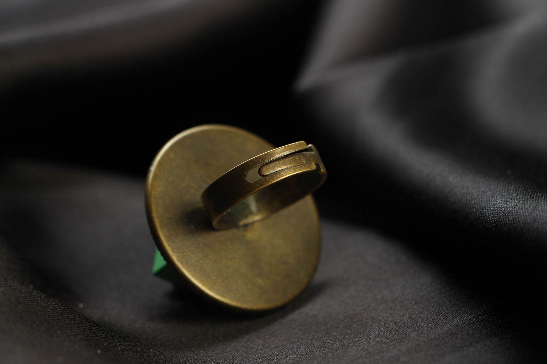 Green metal ring in cyberpunk style photo 3
