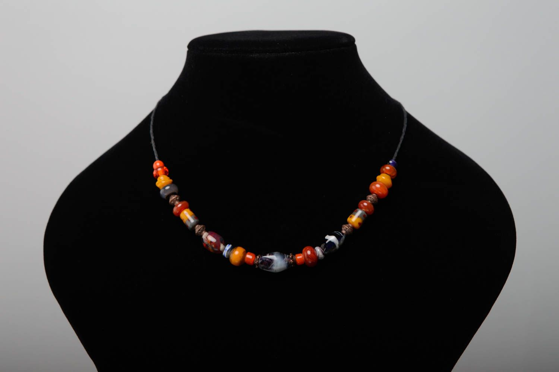 Handmade lampwork necklace Masha photo 3