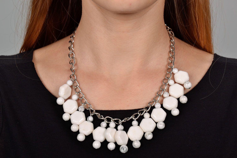 Halskette aus Kalmückenachat und Koralle foto 1