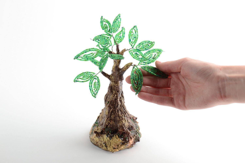 Homemade desktop statuette beaded tree topiary photo 5