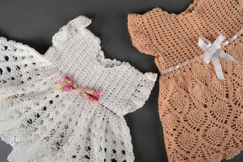 Ажурные детские платья крючком фото