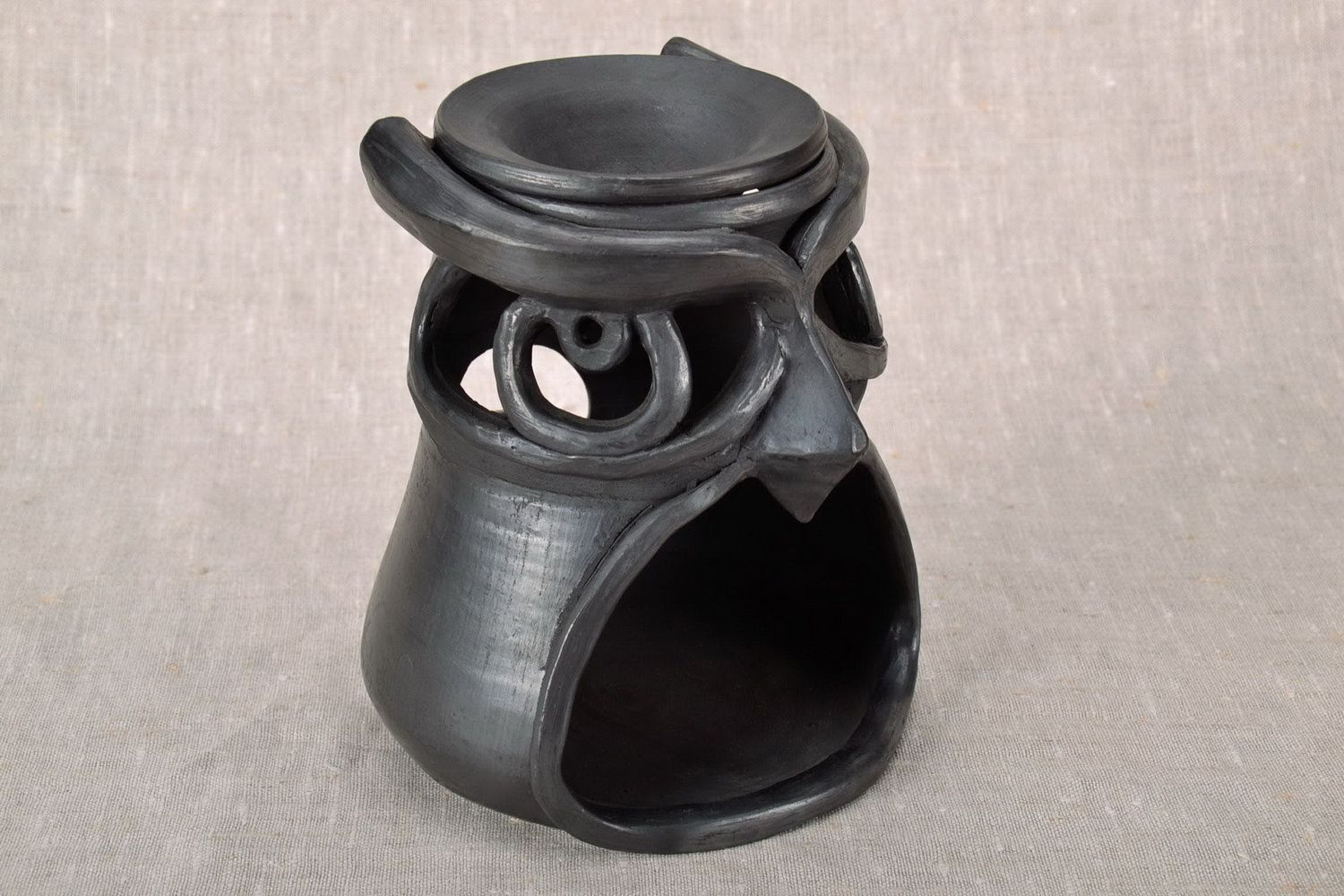 Aroma lamp made from clay Owl photo 2