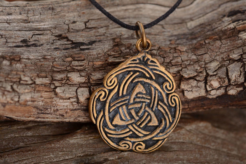 Anhänger aus Bronze Keltisches Muster foto 2