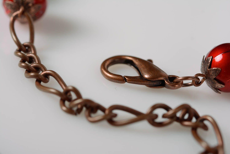 Beautiful handmade airy black beaded necklace designer accessory photo 4