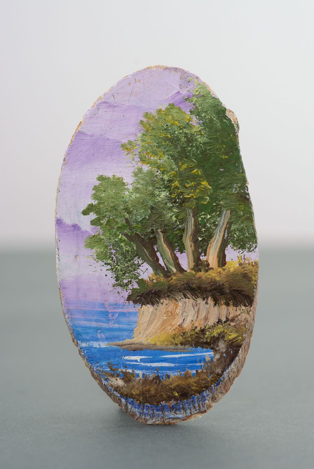 Wooden fridge magnet Lilac Evening photo 1