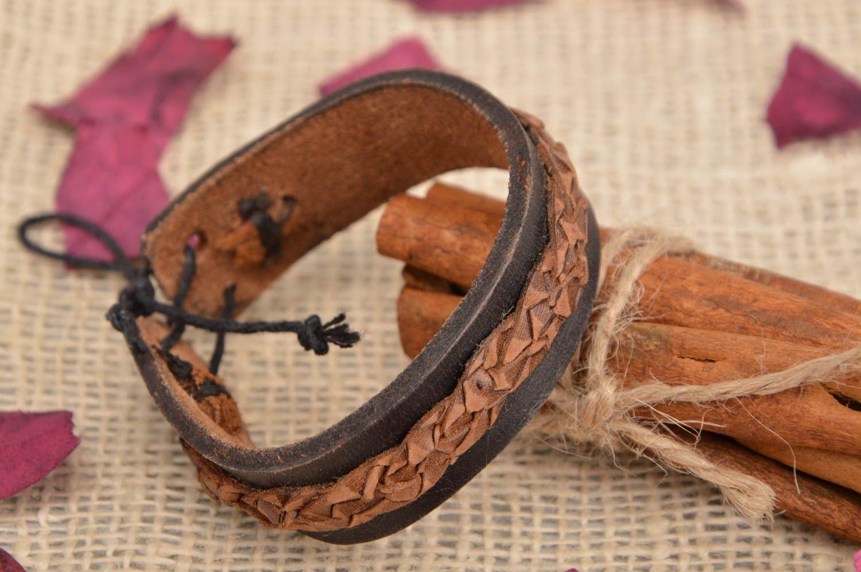 71c306d271c4 pulseras de cuero Pulsera de cuero natural artesanal con ataduras imitación  de piel de serpiente -