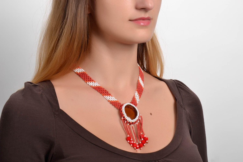 Bead necklace Sun photo 5