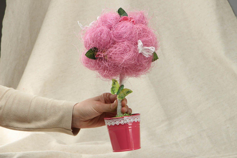 Pink topiary made of natural materials photo 4