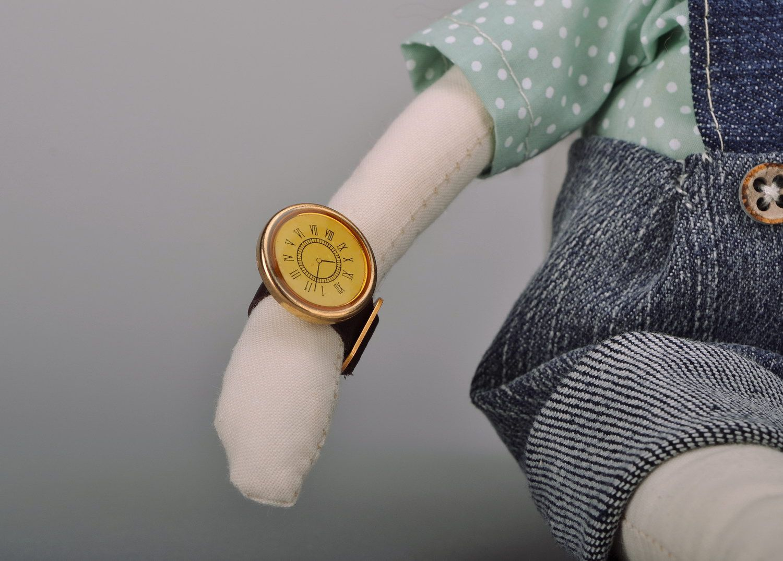 Handmade soft doll photo 4