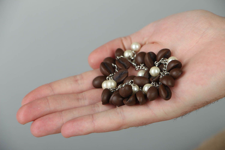 Браслет из полимерной глины Кофейные зерна фото 3