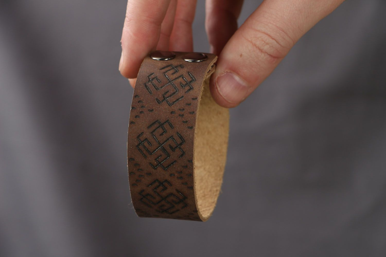 Кожаный браслет Сварожич фото 4