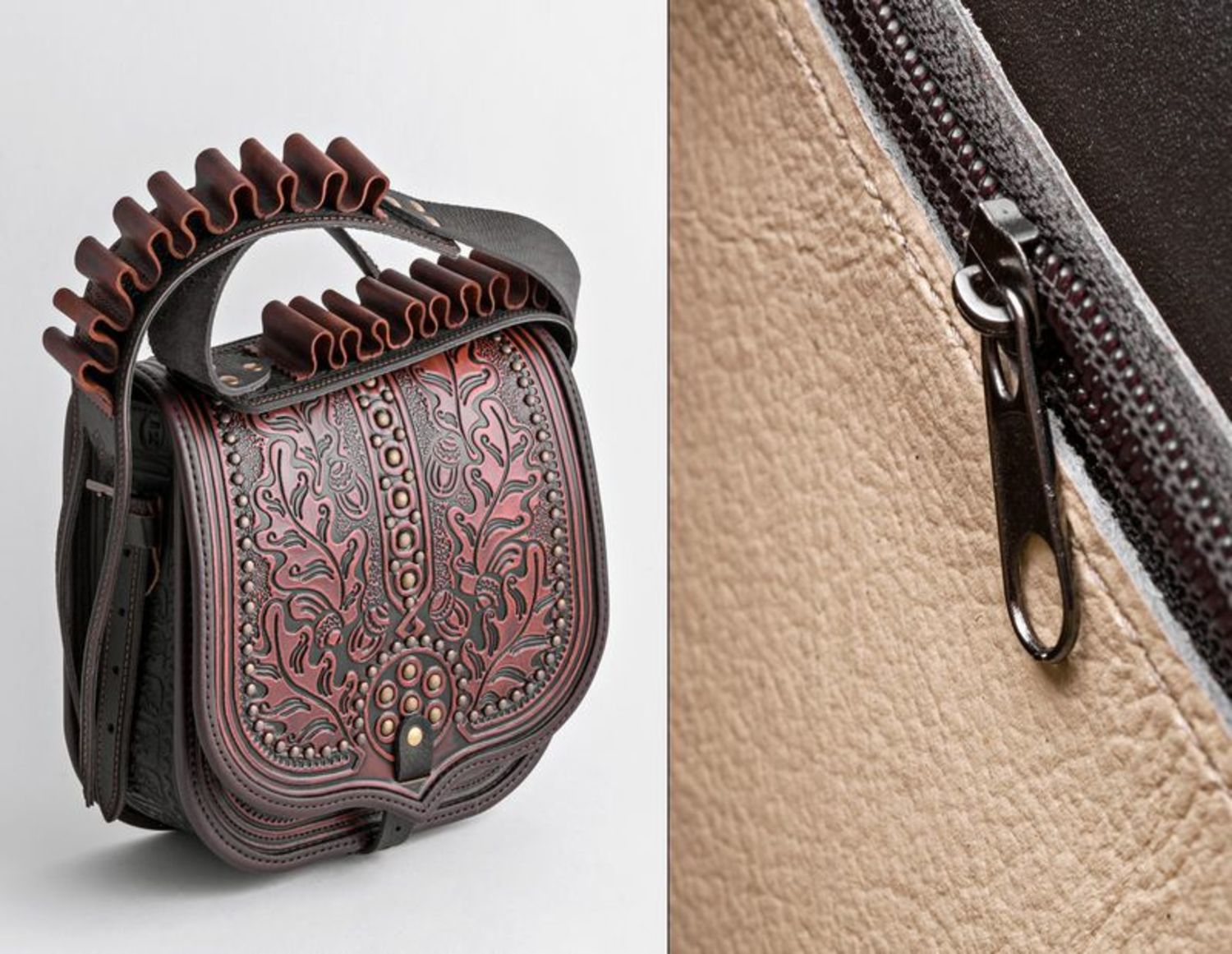 Men's Bags Leather bag with bandolier - MADEheart.com