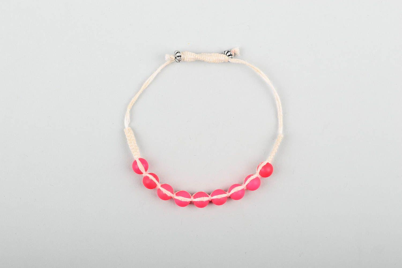 Handmade beaded textile bracelet unusual stylish bracelet elegant jewelry photo 1