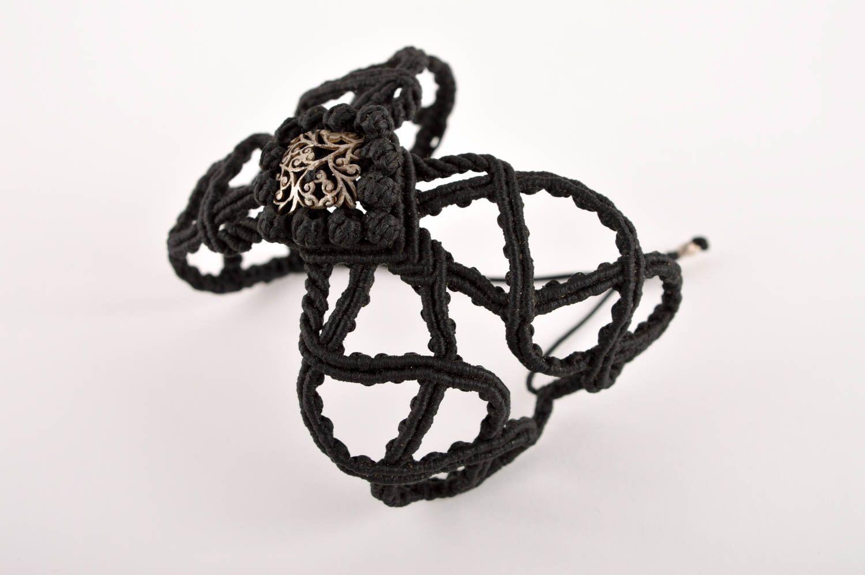 Handgefertigt Makramee Armband ausgefallenes Geschenk Accessoire für Frauen  foto 2