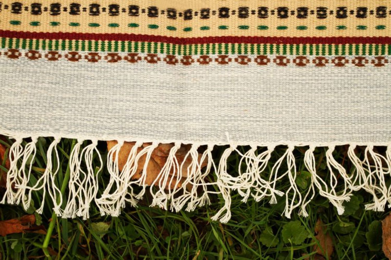 Homespun wool carpet photo 5