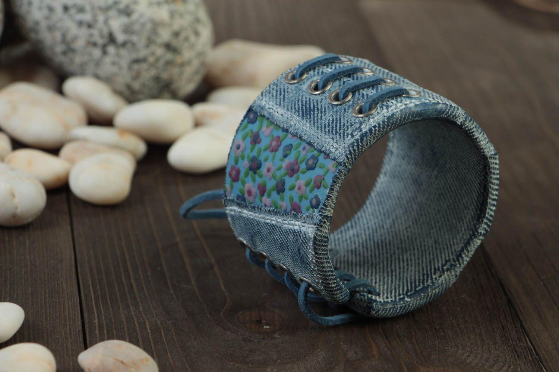 Bracelet large en pâte polymère Bijou fait main original Cadeau pour femme photo 2