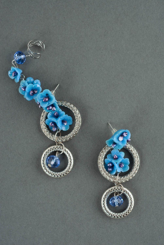Ear cuffs Blue Cloud photo 2