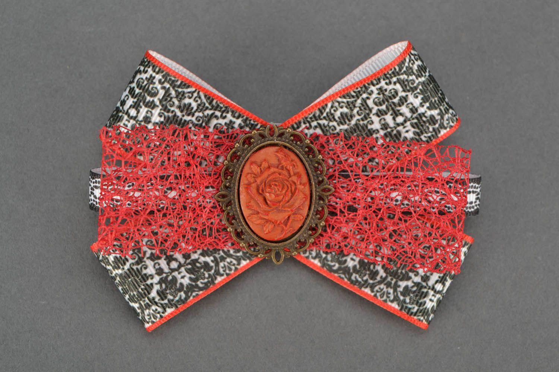 Hair clip Bow with Camellia photo 1