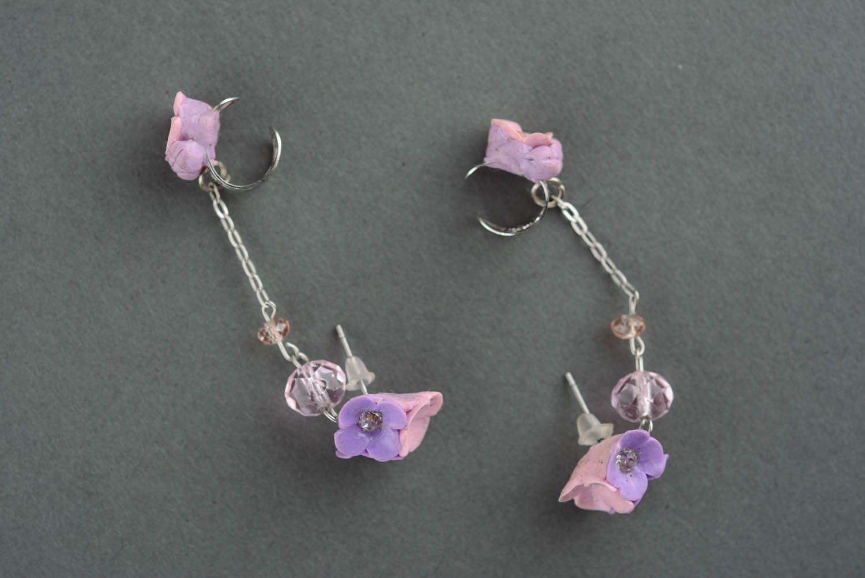 Lilac cuff earrings photo 2