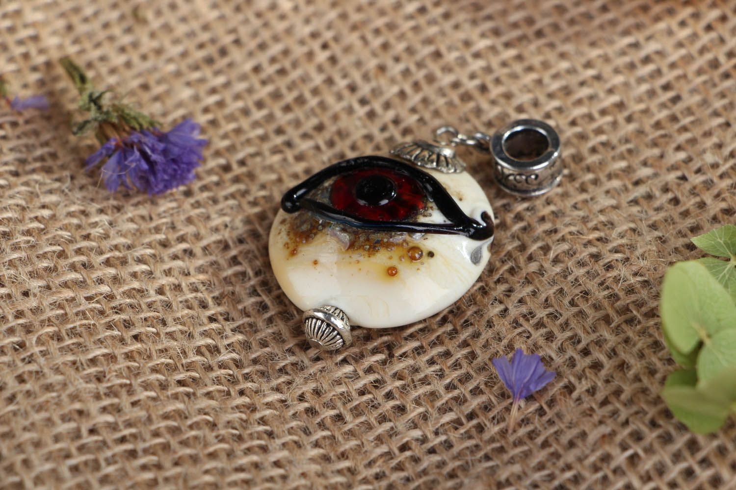 Glass pendant All-seeing Eye photo 4