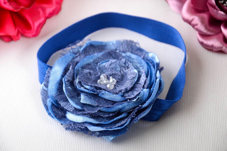 Madeheart Handmade Blue Flower Headband Unusual Elegant Accessory